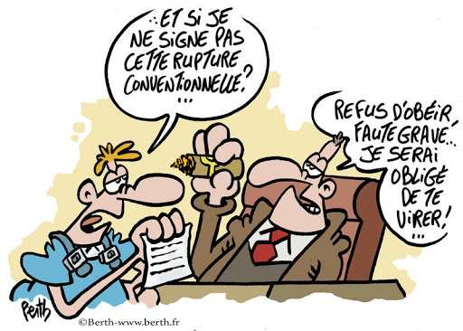 Rupture conventionnelle forcee dessin